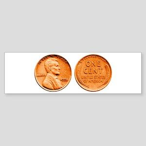 1955 Double Die Lincoln Cent Bumper Sticker