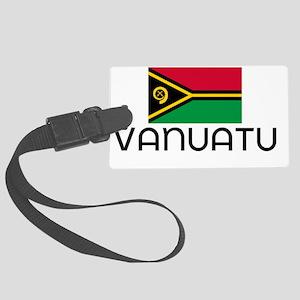 I HEART VANUATU FLAG Large Luggage Tag