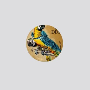 1975 Germany Zoo Macaw Parrot Postage  Mini Button