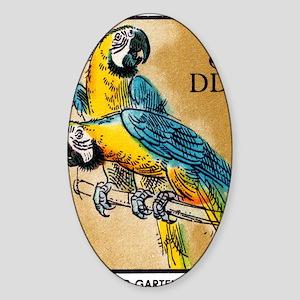 1975 Germany Zoo Macaw Parrot Posta Sticker (Oval)