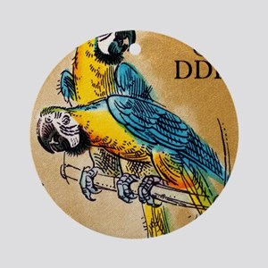 1975 Germany Zoo Macaw Parrot Posta Round Ornament