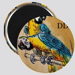 1975 Germany Zoo Macaw Parrot Postage Stamp Magnet