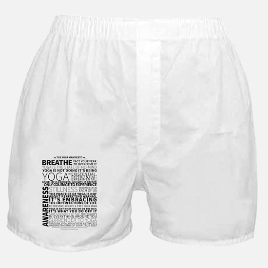 Yoga Manifesto by United Yogis Boxer Shorts
