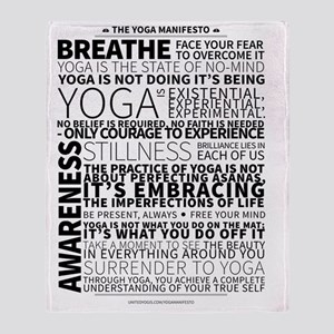 Yoga Manifesto by United Yogis Throw Blanket