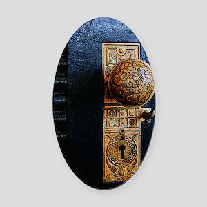 Portal Oval Car Magnet