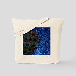 Blue Peacock Bouquet Tote Bag