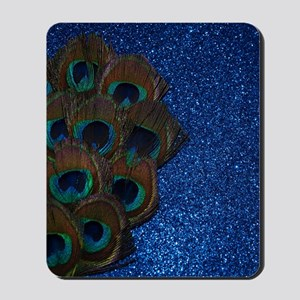 Blue Peacock Bouquet Mousepad