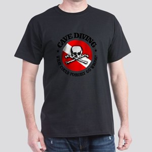 Cave Diving (Skull) Dark T-Shirt