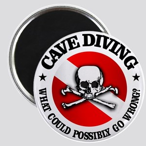 Cave Diving (Skull) Magnet