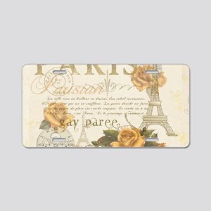 Vintage Paris Aluminum License Plate