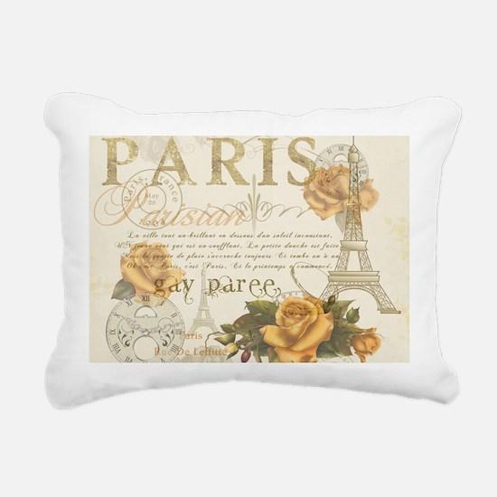 Vintage Paris Rectangular Canvas Pillow