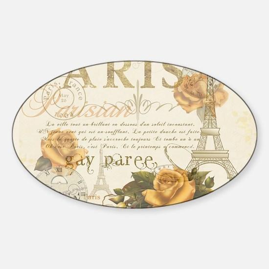 Vintage Paris Sticker (Oval)