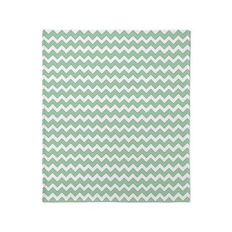 Green Chevron Throw Blankets Green Chevron Fleece Blankets