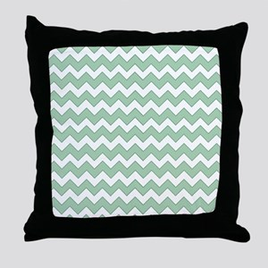 Chevron Zigzag Pattern Mint Green and Throw Pillow