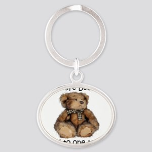 Beary Oval Keychain