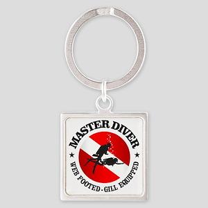 Master Diver (Round) Square Keychain