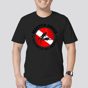 Master Diver (Round) Men's Fitted T-Shirt (dark)
