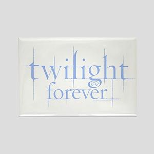 Twilight Forever Logo Light Blue Rectangle Magnet
