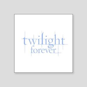 Twilight Forever Logo Light Blue Square Sticker 3&