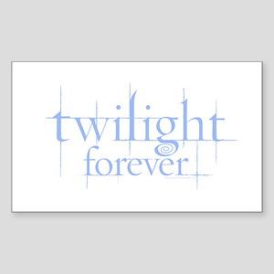 Twilight Forever Logo Light Blue Sticker (Rectangl