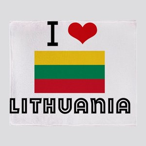 I HEART LITHUANIA FLAG Throw Blanket