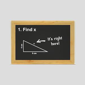 Math - Find X Rectangle Magnet