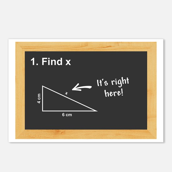 Math - Find X Postcards (Package of 8)