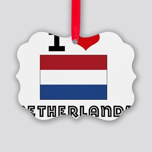 I HEART NETHERLANDS FLAG Picture Ornament