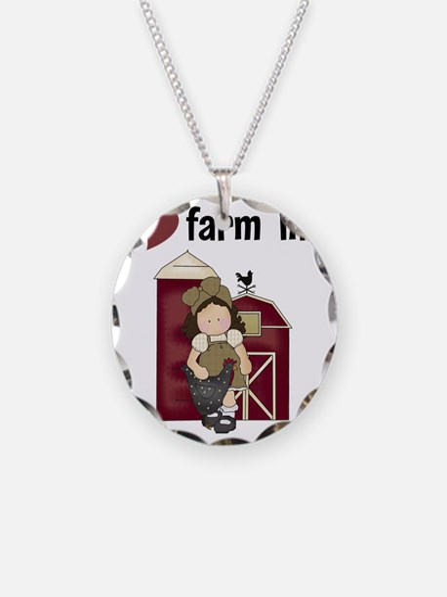 I Love Farm Life Necklace