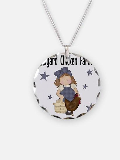 Backyard Chicken Farmer Necklace