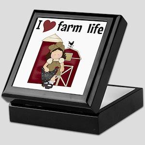 I Love Farm Life Keepsake Box