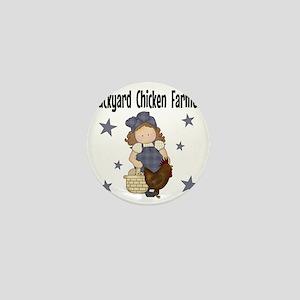 Backyard Chicken Farmer Mini Button