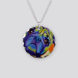Pug #10 Necklace Circle Charm