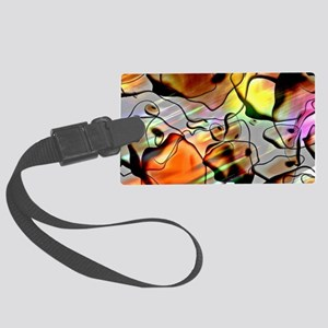 Eerie Abstract Large Luggage Tag