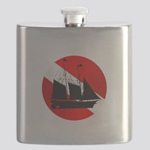 Wreck Diver (Ship) Flask