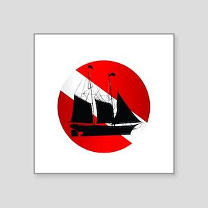 """Wreck Diver (Ship) Square Sticker 3"""" x 3"""""""