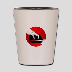 Wreck Diver (Ship) Shot Glass