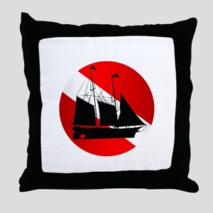 Wreck Diver (Ship) Throw Pillow