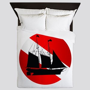 Wreck Diver (Ship) Queen Duvet