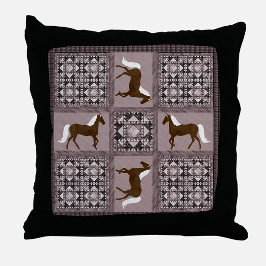 GHBrown Throw Pillow
