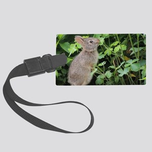 Baby Bunny Munch Large Luggage Tag