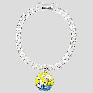 martini bird  Charm Bracelet, One Charm
