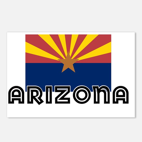 I HEART ARIZONA FLAG Postcards (Package of 8)