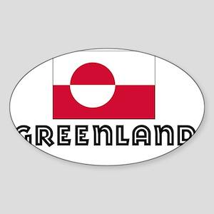 I HEART GREENLAND FLAG Sticker (Oval)