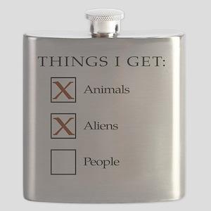 Things I get - aliens, not people Flask