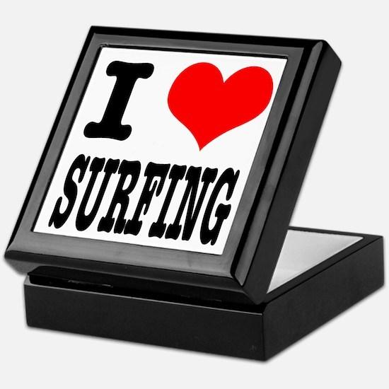 I Heart (Love) Surfing Keepsake Box