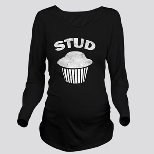 Stud Muffin Long Sleeve Maternity T-Shirt