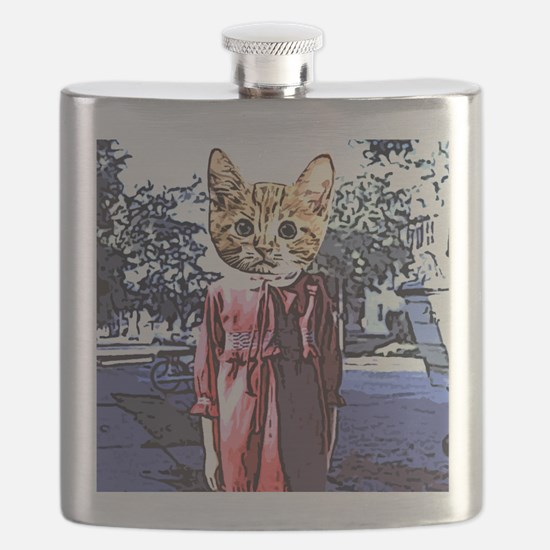 Purrrfect Art Flask