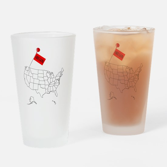 Cool Map oregon Drinking Glass