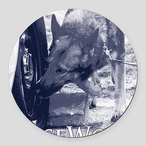 German Shepard Dog Nose Work K9 Round Car Magnet